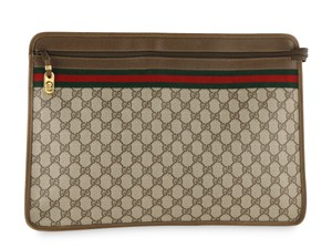 Gucci Vintage Web Gg Portfolio Laptop Bag