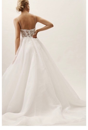 BHLDN Ivory Tulle Hepburn Traditional Wedding Dress Size 10 (M) Image 1