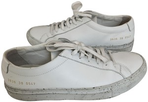 Common Projects Woman By Leather Leather Sneaker White Athletic