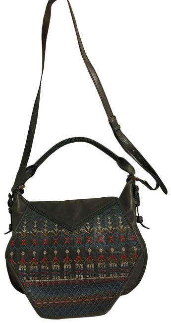 Item - Handbag Grey Leather Cross Body Bag