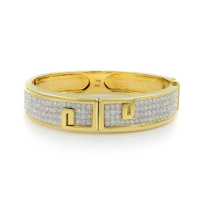 Item - 18k Yellow Gold Vintage Diamond Bangle 6.00cts Bracelet