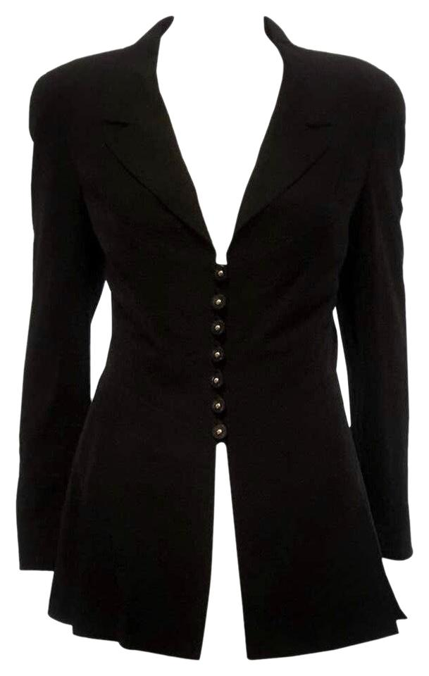 66c4f5a11 Chanel Dark Navy Boutique Wool Jacket Pant Suit Size 8 (M) 73% off retail