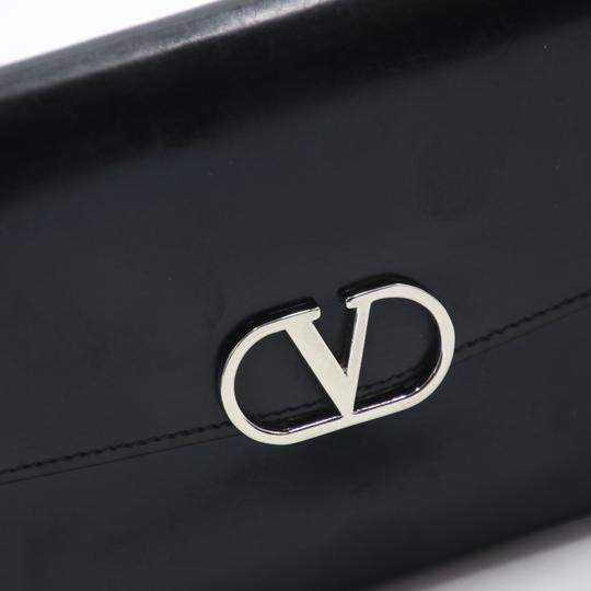 Valentino Glossy Calfskin Leather V Long Flap Wallet Image 11