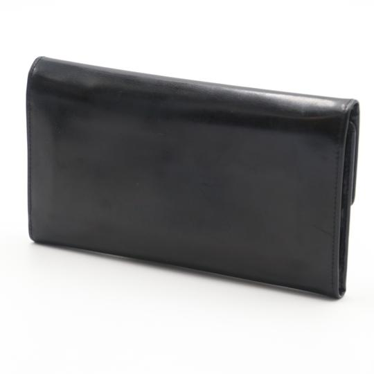 Valentino Glossy Calfskin Leather V Long Flap Wallet Image 2