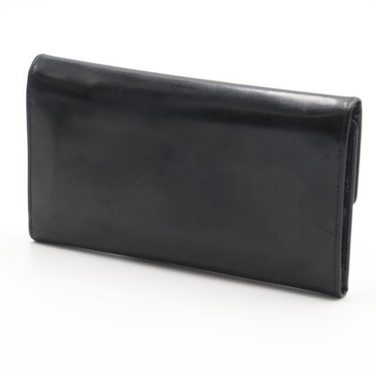 Valentino Glossy Calfskin Leather V Long Flap Wallet Image 3
