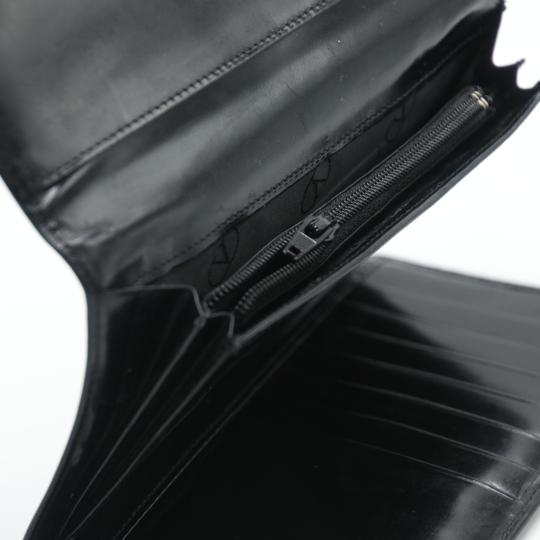 Valentino Glossy Calfskin Leather V Long Flap Wallet Image 9