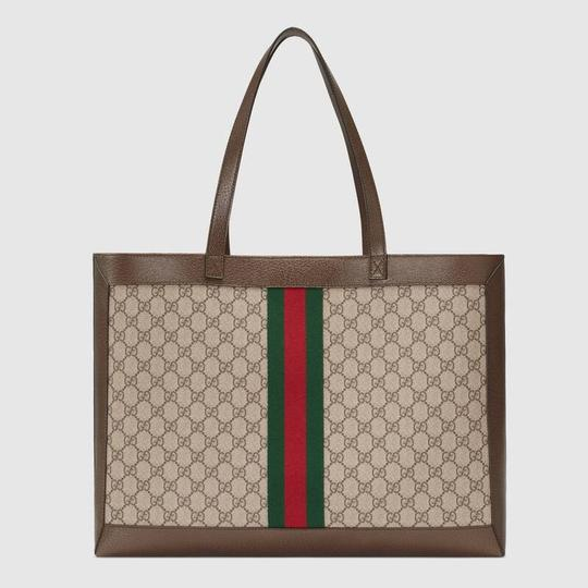 Gucci Ophidia Tote in Brown Image 5