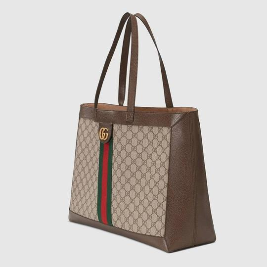 Gucci Ophidia Tote in Brown Image 6