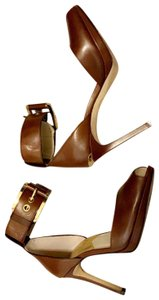 MICHAEL Michael Kors Brown, gold Platforms
