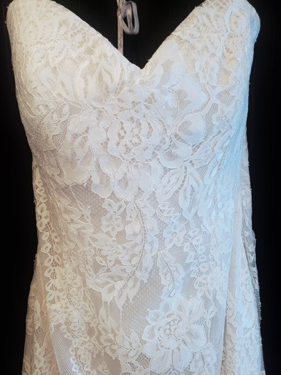 Maggie Sottero Ivory Over Light Champagne Lace Octavia Modern Wedding Dress Size 14 (L) Image 2