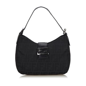 Fendi 9gfnsh059 Vintage Nylon Leather Shoulder Bag