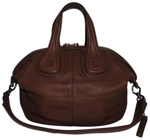 Givenchy Goat Small Nightingale Leather Tote in Brown
