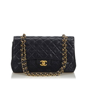Chanel 9gchsh012 Vintage Lambskin Leather Shoulder Bag
