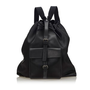 Saint Laurent 9gysbp001 Vintage Ysl Leather Backpack