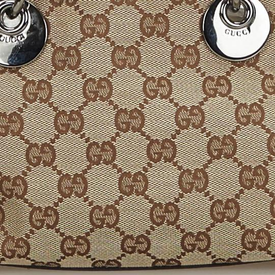 Gucci 9gguto040 Vintage Canvas Leather Tote in Brown Image 11