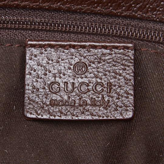 Gucci 9gguto040 Vintage Canvas Leather Tote in Brown Image 5