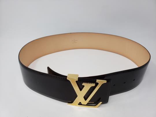 Louis Vuitton Burgundy red Vernis Louis Vuitton Initiales LV buckle wide belt Image 5