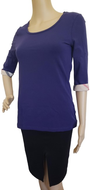 Preload https://img-static.tradesy.com/item/25836497/burberry-purple-brit-nova-check-trim-three-quarter-sleeve-blouse-size-4-s-0-3-650-650.jpg
