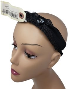 Chanel Black Interlocking CC bow embellished Chanel headband