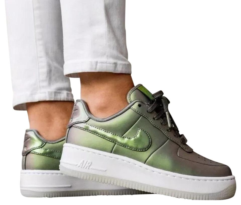 Nike Green Women's Air Force 1 Upstep Premium Lx Iridescent Leather Upper For A Stand Out Look. Foam Sole With Sneakers Size US 8 Narrow (Aa, N) 34%
