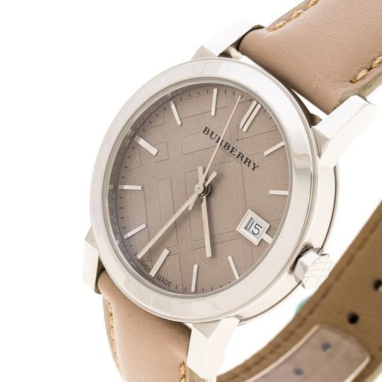 Burberry Beige Check Dial Stainless Steel BU9107 Women's Wristwatch 34 mm Image 1