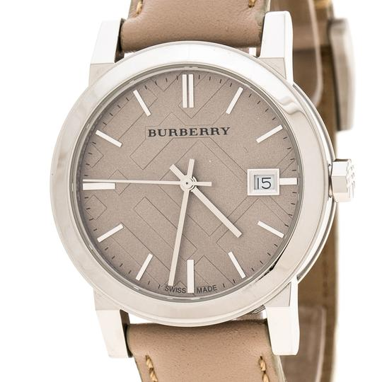 Burberry Beige Check Dial Stainless Steel BU9107 Women's Wristwatch 34 mm Image 2