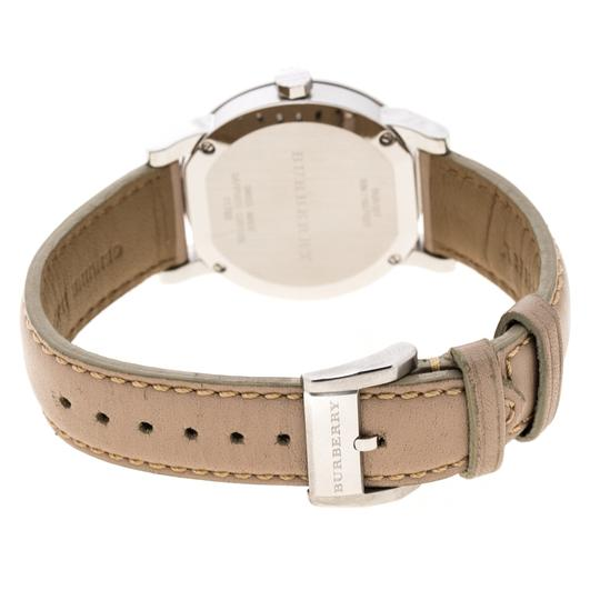Burberry Beige Check Dial Stainless Steel BU9107 Women's Wristwatch 34 mm Image 3