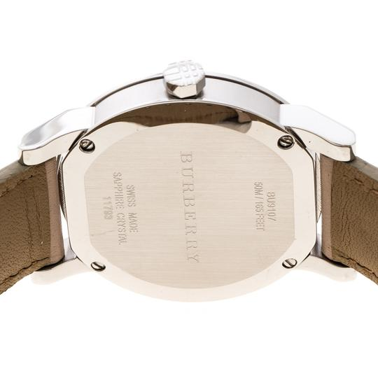 Burberry Beige Check Dial Stainless Steel BU9107 Women's Wristwatch 34 mm Image 4