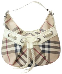 Burberry Artsy Croissant Hobo Crescent Shoulder Bag