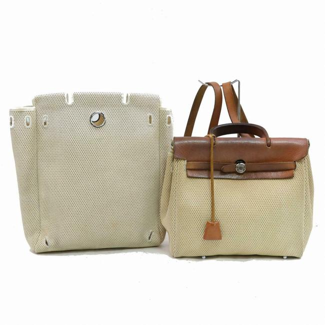 Item - Herbag Toile Sac A Dos 2-in-1 871069 Beige Canvas Backpack