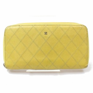 Chanel Quilted Caviar Leather Zip Around Continental Long Wallet 871091