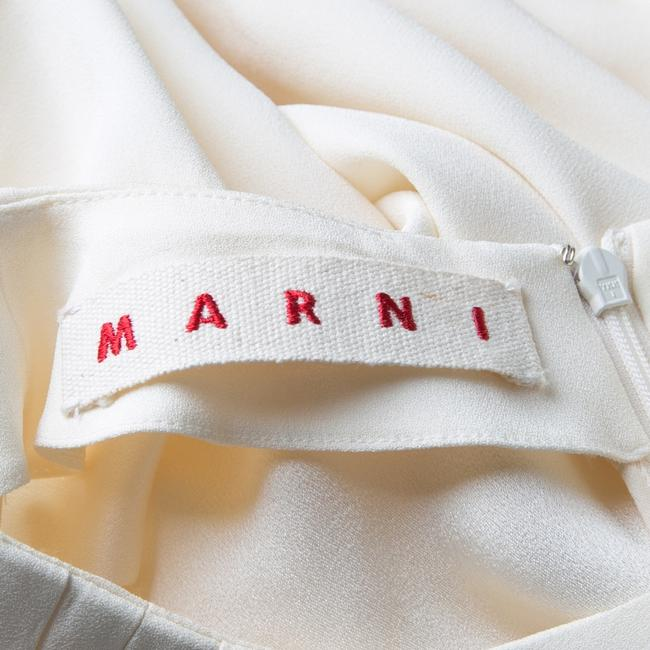 Marni Pleat Detail Draped Cut-out Sleeve Top Cream Image 6