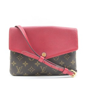 Louis Vuitton Lv Twice Canvas Calfskin Monogram Hobo Bag