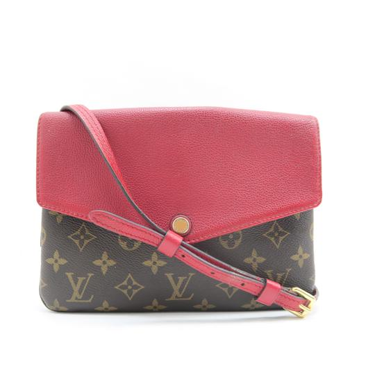 Louis Vuitton Lv Twice Canvas Calfskin Monogram Hobo Bag Image 0