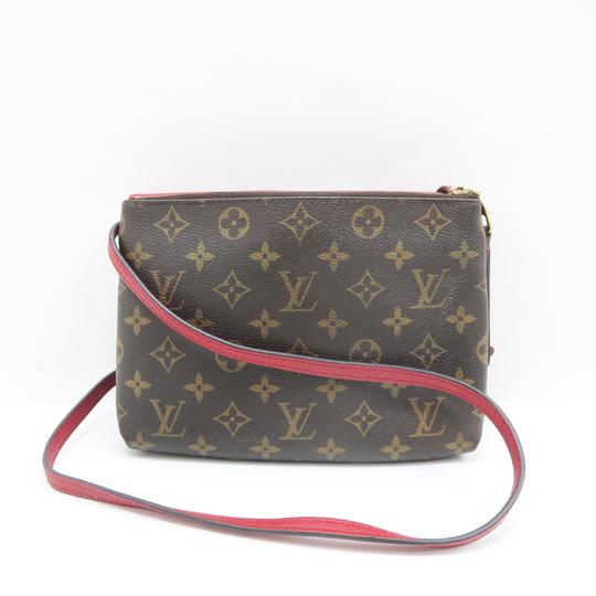 Louis Vuitton Lv Twice Canvas Calfskin Monogram Hobo Bag Image 2