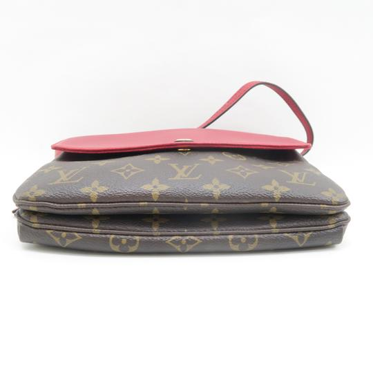 Louis Vuitton Lv Twice Canvas Calfskin Monogram Hobo Bag Image 3