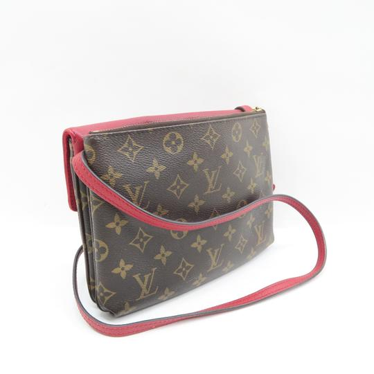 Louis Vuitton Lv Twice Canvas Calfskin Monogram Hobo Bag Image 4