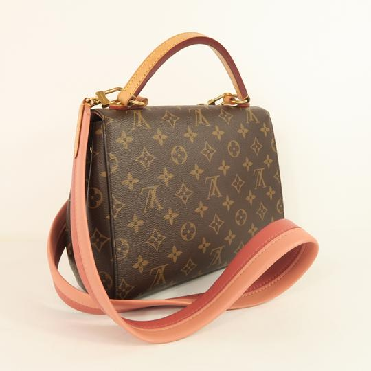Louis Vuitton Lv Cluny Monogram Canvas Satchel in Brown Image 3