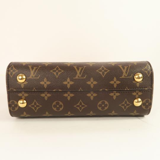 Louis Vuitton Lv Cluny Monogram Canvas Satchel in Brown Image 5