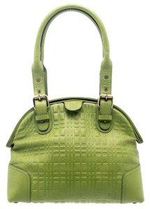 Burberry Leather Satchel in Green