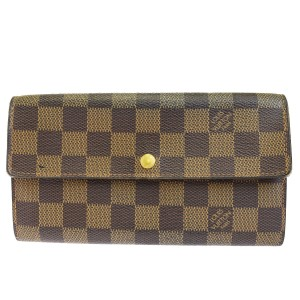 Louis Vuitton LOUIS VUITTON Credit Long Bifold Wallet Damier Leather