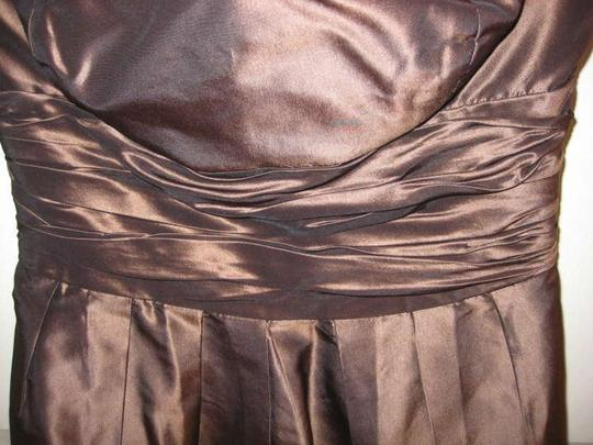 Jenny Yoo Brown Empire Waist Feminine Bridesmaid/Mob Dress Size 4 (S)