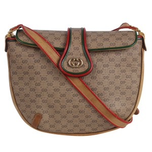 Gucci Vintage Canvas Classic Monogram Gg Cross Body Bag