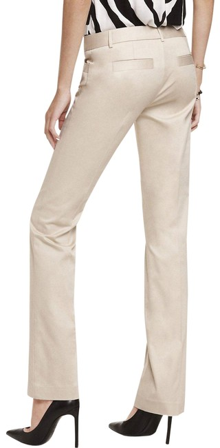 Item - Ivory Columnist Natural Cotton Sateen Barely Boot Pants Size 2 (XS, 26)