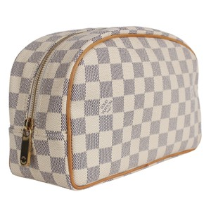 Louis Vuitton Damier Azur Cosmetic Toiletry Case 5955