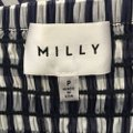 MILLY Off The Shoulder Gingham Navy Blouse Size 00 (XXS) MILLY Off The Shoulder Gingham Navy Blouse Size 00 (XXS) Image 4