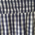 MILLY Off The Shoulder Gingham Navy Blouse Size 00 (XXS) MILLY Off The Shoulder Gingham Navy Blouse Size 00 (XXS) Image 5