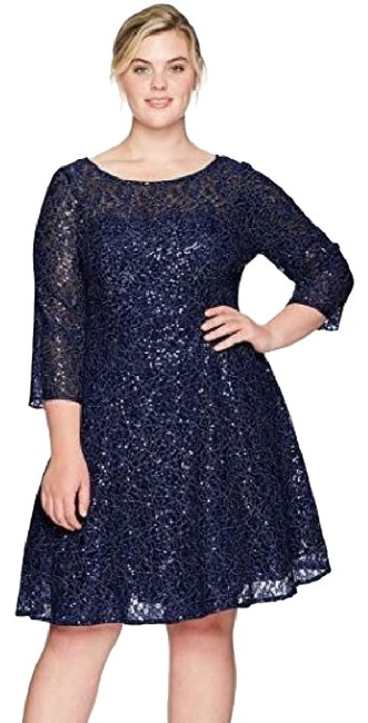 Preload https://img-static.tradesy.com/item/25838598/sl-fashions-navy-lace-and-sequin-fit-and-flare-short-cocktail-dress-size-12-l-0-1-650-650.jpg