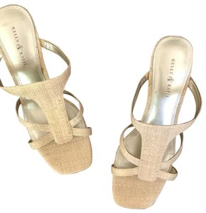 Kelly & Katie Tan/Gold Shimmer Sandals