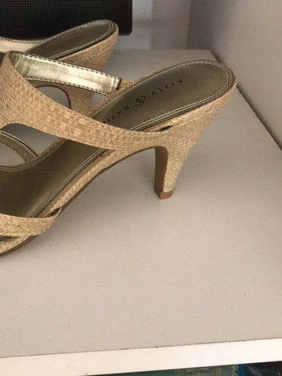 Kelly & Katie Tan/Gold Shimmer Sandals Image 10